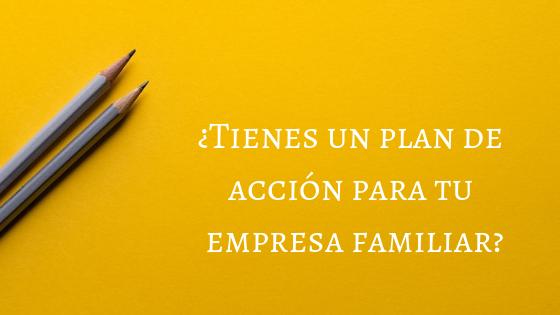 ¿Tienes un plan de acción?